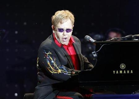 Elton John performs during his concert in Istanbul July 5, 2011. REUTERS/Osman Orsal