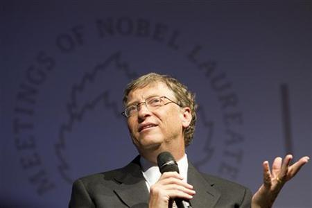 Bill Gates, Microsoft Corp co-founder and co-chair of the Bill and Melinda Gates Foundation, attends a podium discussion at the 61st Lindau Nobel Laureate Meetings in Lindau at Lake Constance June 26, 2011. REUTERS/Miro Kuzmanovic