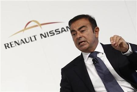 Nissan and Renault CEO Carlos Ghosn attends a news conference during the International Motor Show (IAA) in Frankfurt, September 14, 2011. REUTERS/Alex Domanski