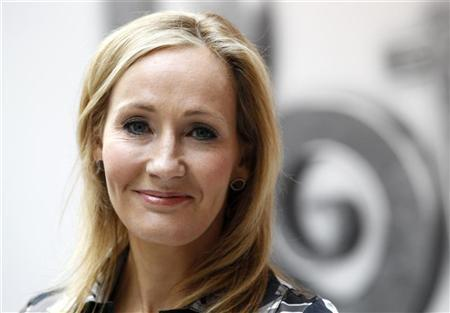 British writer JK Rowling, author of the Harry Potter series of books, poses during the launch of new online website Pottermore in London June 23, 2011. REUTERS/Suzanne Plunkett