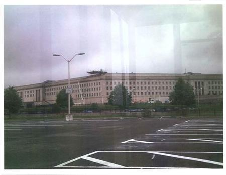 A ''surveillance photo'' that the FBI says was taken of the Pentagon by defendant Rezwan Ferdaus is seen in a handout photo released by the U.S. Justice Department after the photo was submitted to U.S. District Court in Massachusetts as part of a criminal complaint and affidavit filed by the Federal Bureau of Investigation in Boston, September 28, 2011. REUTERS/U.S. Department of Justice/Handout