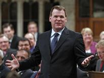 <p>Canada's Foreign Minister John Baird speaks during Question Period in the House of Commons on Parliament Hill in Ottawa September 30, 2011. REUTERS/Chris Wattie</p>