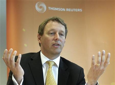 Head of the Geneva branch of Wegelin & Co Private Bankers Ivan Adamovich gestures during the Reuters Global Wealth Management Summit in Geneva October 4, 2011. REUTERS/Denis Balibouse