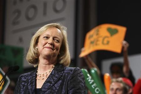 California Republican gubernatorial candidate Meg Whitman gives her concession speech during her election night rally in Los Angeles, California November 2, 2010. REUTERS/David McNew