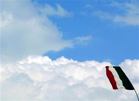 Italienische Flagge am 25. September 2005 in Torre del Greco. REUTERS/Giampiero Sposito