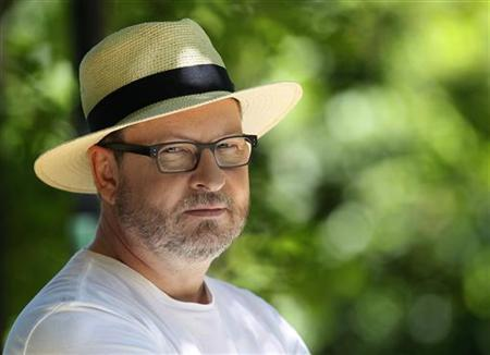 Director Lars Von Trier poses during an interview with Reuters in Mougins May 21, 2011. REUTERS/Yves Herman