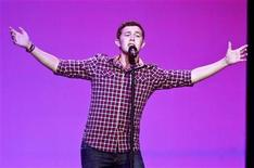 <p>American Idol Season 10 winner Scotty McCreery performs during Wal-Mart Stores Inc's annual general meeting in Fayetteville, Arkansas on June 3, 2011. REUTERS/Sarah Conard</p>
