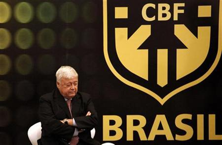 President of the Brazilian Football Confederation (CBF) Ricardo Teixeira looks on during a farewell ceremony of the former Brazil striker Ronaldo (not pictured) in Sao Paulo June 6, 2011. REUTERS/Nacho Doce