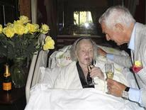 <p>Actress Zsa Zsa Gabor and her husband Frederic Prinz von Anhalt celebrate his 68th birthday in this June 18, 2011 publicity photo released to Reuters June 20, 2011. REUTERS/John Blanchette/Handout</p>