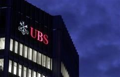 <p>The logo of Swiss bank UBS is seen on an office building in Zurich October 24, 2011. REUTERS/Arnd Wiegmann</p>