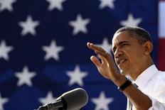 <p>El presidente de Estados Unidos. Barack Obama, durante un evento en Washington, nov 2 2011. Barack Obama encabeza la lista que publica la revista Forbes con las personas más poderosas del mundo en el 2011, luego de que la influencia del presidente estadounidense creciera tras las muertes del líder de Al Qaeda, Osama bin Laden, y del dictador libio Muammar Gaddafi. REUTERS/Larry Downing</p>