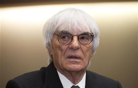 F1 supremo Bernie Ecclestone waits to testify in the trial against banker Gerhard Gribkowsky at a district court in Munich November 10, 2011. REUTERS/Joerg Koch/Pool
