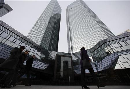 The headquarters of Deutsche Bank is pictured in Frankfurt December 8, 2011. REUTERS/Ralph Orlowski