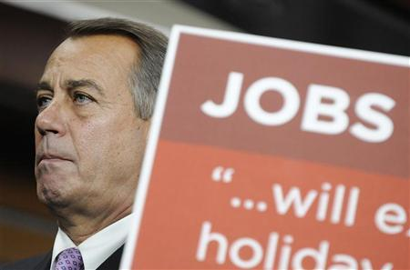 U.S. House Speaker John Boehner (R-OH) speaks during a news conference at the U.S. Capitol in Washington, December 22, 2011. REUTERS/Jonathan Ernst
