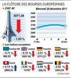 <p>LA CLÔTURE DES BOURSES EUROPÉENNES</p>