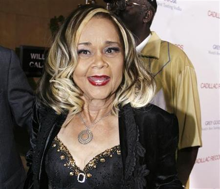 Jazz singer and songwriter Etta James arrives as a guest at the premiere of the film ''Cadillac Records'' in Hollywood, California, in this November 24, 2008 file photograph. James has been hospitalized with blood poisoning, her son said on May 13, 2011. REUTERS/Fred Prouser/Files