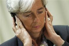<p>International Monetary Fund Managing Director Christine Lagarde during a news conference in Brasilia, December 1, 2011. REUTERS/Ueslei Marcelino</p>