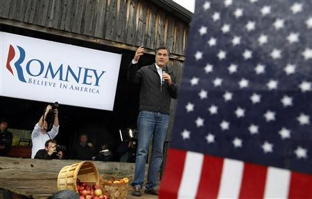 Mitt Romney speaks to supporters during a campaign rally in Gilbert, South Carolina, January 20, 2012. REUTERS/Jim Young