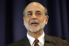 "<p>Federal Reserve Chairman Ben Bernanke delivers opening remarks at a conference on ""Small Business and Entrepreneurship during an Economic Recovery"" at the Federal Reserve in Washington, November 9, 2011. REUTERS/Hyungwon Kang</p>"