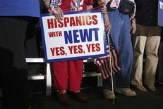 <p>Supporters of U.S. Republican presidential candidate and former Speaker of the House Newt Gingrich stand during a rally in Tampa, Florida January 30, 2012. REUTERS/Shannon Stapleton</p>