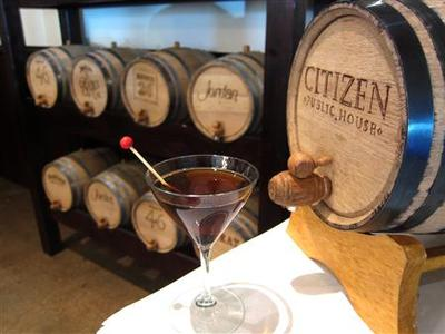 Barrel-aged cocktails on display at experimental cocktail venue Citizen Public House located in Scottsdale, Phoenix, Arizona, in this publicity image obtained on February 7, 2012. REUTERS/Handout