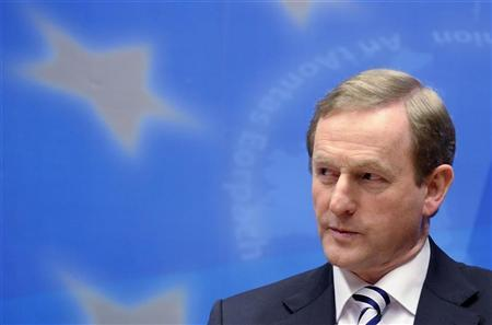 Ireland's Prime Minister Enda Kenny addresses a news conference at the end of a European Union leaders summit in Brussels March 2, 2012. REUTERS/Eric Vidal