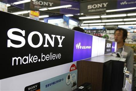 A logo of Sony Corp is pictured at an electronic store in Tokyo April 9, 2012. REUTERS/Yuriko Nakao