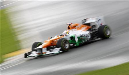 Force India Formula One driver Paul di Resta of Britain drives during the second practice session of the Australian F1 Grand Prix at the Albert Park circuit in Melbourne March 16, 2012. REUTERS/Daniel Munoz