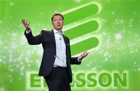 Hans Vestberg, president and chief executive of the Ericsson Group, speaks during his keynote address at the 2012 International Consumer Electronics Show (CES) in Las Vegas, Nevada, January 11, 2012. REUTERS/Steve Marcus