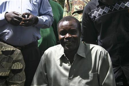 Lord Resistance Army's (LRA) Major General Joseph Kony, in this exclusive image, poses at peace negotiations between the LRA and Ugandan religious and cultural leaders in Ri-Kwangba, southern Sudan, November 30, 2008. EUTERS/Africa24 Media