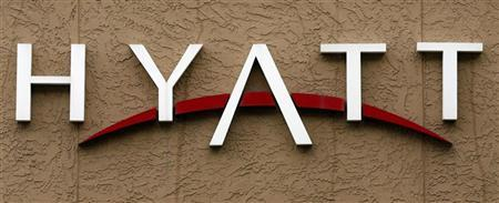 Signage for the Hyatt Hotel is advertised in Phoenix, Arizona November 4, 2009. REUTERS/Joshua Lott