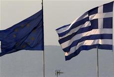 <p>L'Allemagne a solennellement mis en garde la Grèce mercredi, par la voix de son ministre des Affaires étrangères. Selon Guido Westerwelle, la Grèce ne recevra plus aucune tranche d'aide financière si elle vient à interrompre sa politique de réformes. /Photo d'archives/REUTERS/Yannis Behrakis</p>