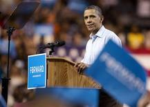<p>Keith Judd, détenu au Texas, a volé la vedette à Barack Obama lors de la primaire démocrate de mardi en Virginie occidentale. Le président sortant a remporté le scrutin avec 57% des voix mais le matricule 11593-051 de l'administration pénitentiaire américaine a tout de même obtenu près de 43% des suffrages. /Photo prise le 5 mai 2012/REUTERS/Joshua Roberts</p>