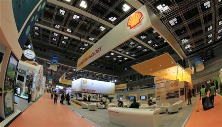 The Shell display is seen at the 20th World Petroleum Congress in Doha December 4, 2011. REUTERS/Mohammed Dabbous