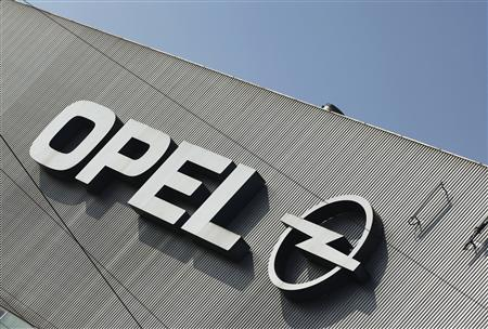 A logo of Opel is pictured at the Opel plant in Bochum March 23, 2012. REUTERS/Ina Fassbender/Files