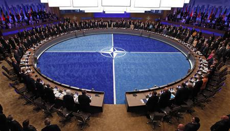 Leaders take part in the NATO Summit meeting in Chicago, May 20, 2012. REUTERS/Jim Young