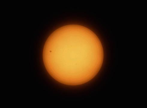 Venus journeys across the Sun