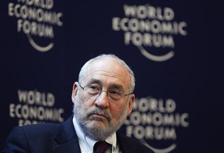 Joseph E. Stiglitz, Professor, Columbia University, of the U.S., attends a session at the World Economic Forum (WEF) in Davos, January 26, 2012. REUTERS/Christian Hartmann