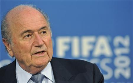 FIFA President Sepp Blatter speaks during a news conference after the 62nd FIFA Congress in Budapest May 25, 2012. REUTERS/Stringer