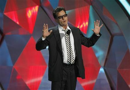 Charlie Sheen introduces the instant cult classic film ''Project X'' at the 2012 MTV Movie Awards in Los Angeles June 3, 2012. REUTERS/Mario Anzuoni