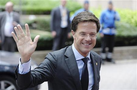 Netherlands' Prime Minister Mark Rutte arrives on the second day of a European Union leaders summit in Brussels June 29, 2012. REUTERS/Eric Vidal