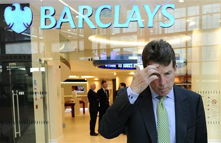 Barclays Plc President Bob Diamond waits to pose for photographs after being named as the company's next chief executive officer at a bank branch near their Canary Wharf headquarters in London in this September 7, 2010 file photograph. REUTERS/Dylan Martinez/Files
