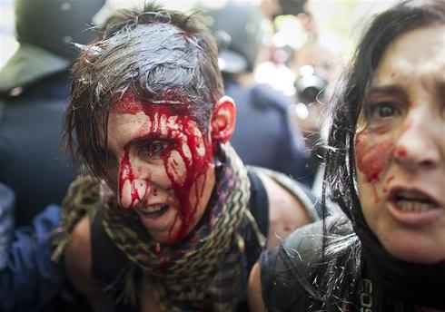 Spanish coal miners riot