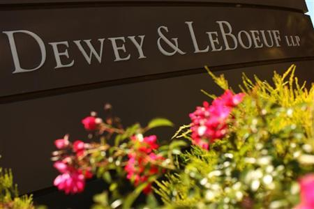 A sign is seen at the offices of Dewey & LeBoeuf in Palo Alto, California June 5, 2012. REUTERS/Robert Galbraith