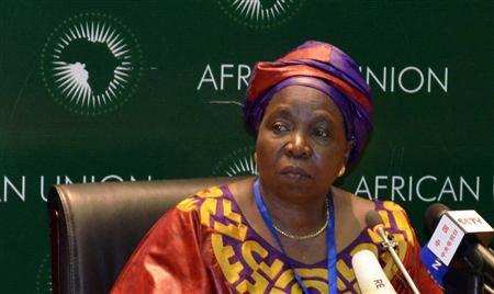 Nkosazana Dlamini-Zuma addresses the media during the leaders meeting at the African Union (AU) in Addis Ababa July 15, 2012. REUTERS/Tiksa Negeri
