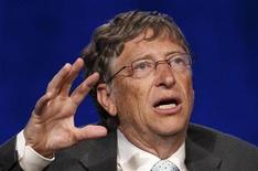 """<p>Bill Gates, filántropo y defensor de la prevención del sida, durante la Conferencia Internacional sobre Sida en Washington, jul 23 2012. Bill Gates, filántropo y defensor de la prevención del sida, dijo que se habían producido avances significativos en la lucha contra el VIH/sida pero que no podía afirmar que el mundo hubiera """"cambiado el rumbo"""" de la enfermedad, el lema de la Conferencia Internacional sobre Sida que se celebra esta semana. REUTERS/Kevin Lamarque</p>"""