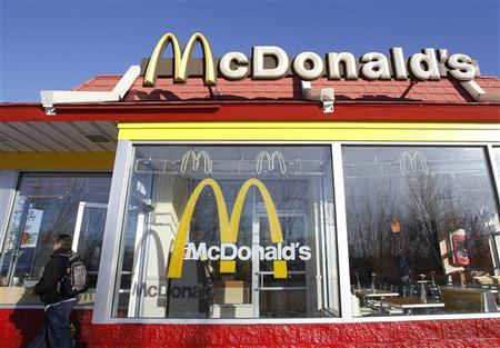 A man walks out of a McDonald's restaurant in New York January 24, 2011. REUTERS/Shannon Stapleton