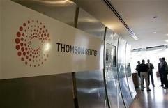 <p>Foto de archivo del logo de Thomson Reuters en sus oficinas de Dubái, abr 17 2008. La plataforma del sitio web Reuters News fue vulnerada el miércoles con una publicación falsa en un blog de un periodista de la agencia que decía que el ministro de Relaciones Exteriores de Arabia Saudita, príncipe Saud al-Faisal, había muerto. REUTERS/Jumana El Heloueh</p>