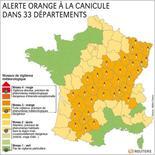 <p>ALERTE ORANGE À LA CANICULE DANS 33 DÉPARTEMENTS</p>