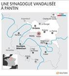 <p>UNE SYNAGOGUE VANDALISÉE À PANTIN</p>